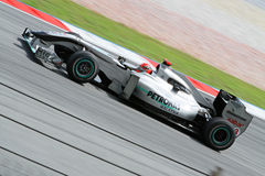 2010 Formula 1 - Malaysian Grand Prix 27. Team: Mercedes GP Royalty Free Stock Photography