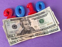 2010 görande pengar mer Arkivbild