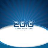 2010 Gelukkig nieuw jaar! Stock Afbeeldingen