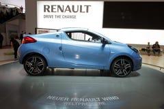 2010 Geneva motorowy Renault pokazywać wiatr zdjęcia stock