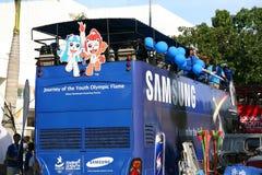 2010 gier olimpijska sztafetowa pochodni młodość Zdjęcia Royalty Free