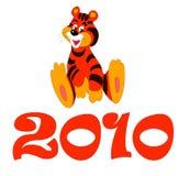 2010 glada tigress Arkivbilder