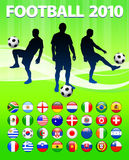2010 Global Soccer Football Match. Global Soccer Football Match Royalty Free Stock Image