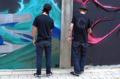 2010 grafitti sitter fast london Fotografering för Bildbyråer