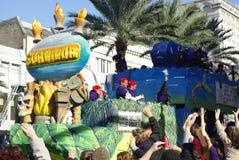 2010 gras mardi新奥尔良 库存图片