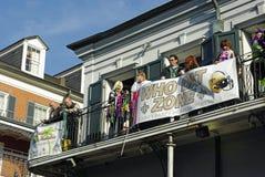 2010 gras mardi新奥尔良 库存照片