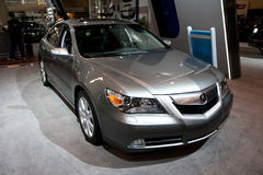 2010 Grey Acura TL at the Toronto Auto Show Stock Photo