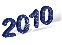 2010 Happy New Year. Vector royalty free illustration