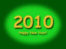 2010 Happy New Year Green Royalty Free Stock Photos