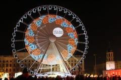 2010 het embleem van het Feest des lumieres op het Wiel Royalty-vrije Stock Afbeeldingen