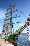 2010 historiska högväxt regattahavsships Royaltyfria Foton