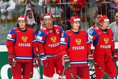 2010 iihf Russia drużyna Obrazy Royalty Free