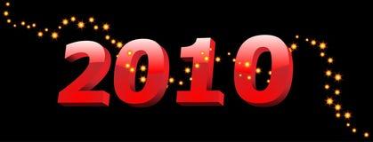 2010 jaar cijfers Stock Afbeelding