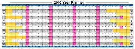 2010 Jahr-Planer Stockbild
