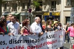 2010 Jean-Paul Huchon in Gay pride in Paris France Royalty Free Stock Images