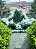 2010 Jerome księdza świątobliwa statua Washington Zdjęcie Stock