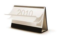 2010 kalendarzowy biurko Obraz Stock