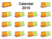 2010 kalendarzowy zupełnego setu stół Fotografia Royalty Free
