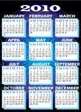 2010 Kalender royalty-vrije illustratie