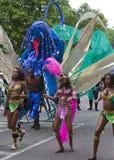 2010 karibiska karneval leicester uk Arkivfoton