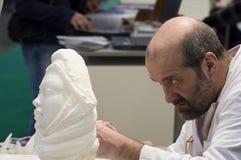 2010 kawałków rzeźbiarza praca Fotografia Royalty Free