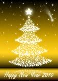 2010 Kerstboom Royalty-vrije Stock Afbeeldingen