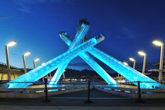 2010 kocioł olimpijski Vancouver Obraz Stock
