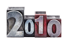 2010 in letterpress Stock Image