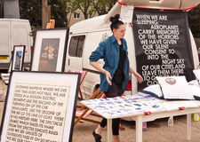 майна 2010 автомобиля кирпича ботинка искусства справедливая london Стоковое Изображение