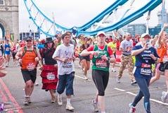 2010 London maraton Zdjęcia Royalty Free
