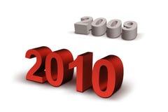 2010 lyckliga nya år stock illustrationer