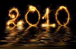 2010 made of sparks Stock Images