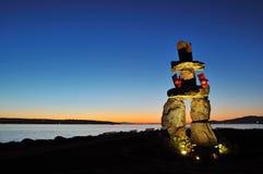2010 marchio olimpico - Inukshuk Fotografia Stock Libera da Diritti