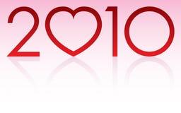 2010 miłość rok Zdjęcia Stock