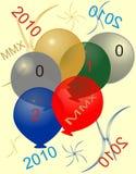 2010 (MMX) anos novos felizes Imagem de Stock