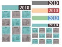 2010 Moderne Kalender Stock Foto