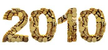 2010 muntstukken Stock Afbeelding