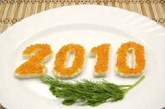 2010 neues Jahr Lizenzfreie Stockfotos