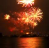 2010 neues Jahr-Feuerwerke Sydney Lizenzfreie Stockfotografie
