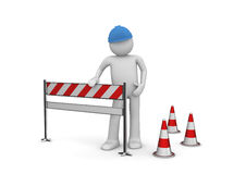 2010 new under construction. 3d isolated characters, business series Stock Image