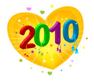 2010 new year. New year 2010 3d creation Royalty Free Stock Image