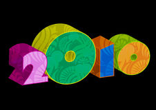 2010 new year. New year 2010 3d creation Royalty Free Illustration