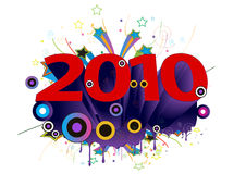 2010 new year. 2010 illustration. ai file also available Stock Photography