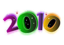 2010 new year. 2010 illustration. ai file also available Stock Photos