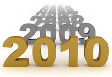 2010 new year. ( 3d rendered Royalty Free Stock Photos