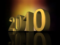 2010 new year. Composition 3d Vector Illustration