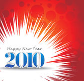 2010 new year background. 3d composition with 2010 new year vector design. vector illustration Stock Image