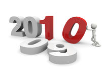 2010 New year concept. 3D 2010 New year concept vector illustration