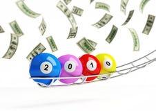 2010 new year's. Bingo balls Stock Illustration