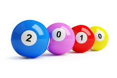 2010 new year's. Bingo balls Royalty Free Stock Photo